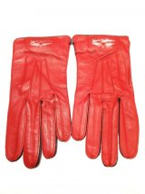 Lewis Leathers (#810 Racing Gloves) Red