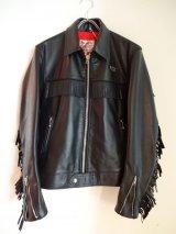Lewis Leathers (#393 Plainsman) Black Cow Leather