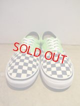 "VANS""VAN DOREN""(ERA) BLUE×WHITE CHECKER/NEON GREEN"
